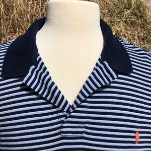 T Polo by Ralph Lauren Polo Shirt Pony Striped XL